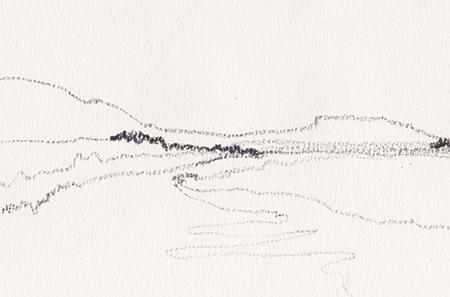 """Skizze von Lisa-Sophie Winklhofer: """"Wir sehen die Dinge an ihren Grenzen"""""""