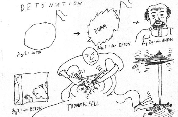 Detonation - Auschnitt aus einer Illustration von Nikolaus Feinig in tortuga #2