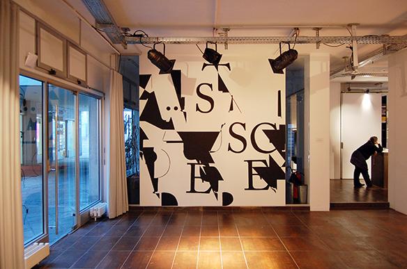LÄRM IST DAS GERÄUSCH DER ANDEREN - Kurt Tucholsky, Risograph, tortuga. esc medien kunst labor. Foto: Bettina Landl