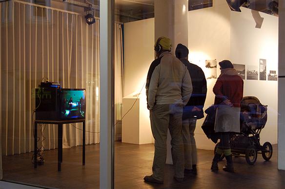 Videoinstallation Pardon von ekw14,90. esc medien kunst labor. Foto: Bettina Landl