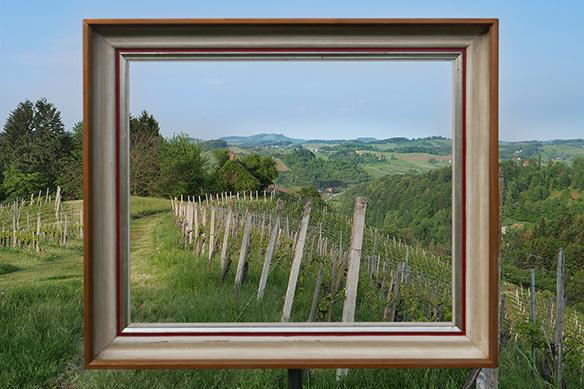 Grenzlandgalerie / Galerija na Meji - gerahmte Landschaft